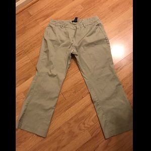 New York & company khaki tan bootcut trousers 18 p